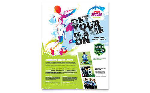 Youth Soccer - Flyer Design Template