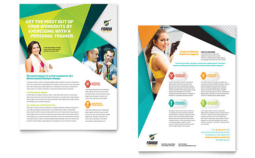 fitness brochure templates - fitness trainer brochure template design