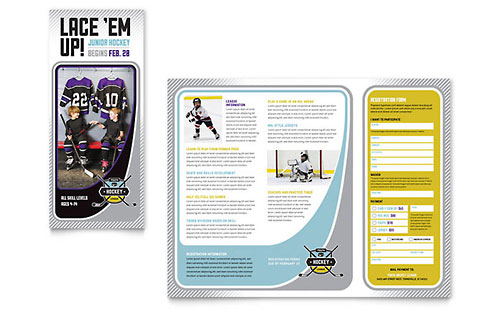 Sports  Fitness Pamphlets  Templates  Designs