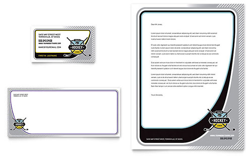 Junior Hockey Camp Business Card & Letterhead