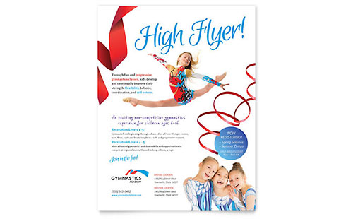 Gymnastics Academy Flyer Template