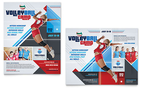 Volleyball Camp Poster Template