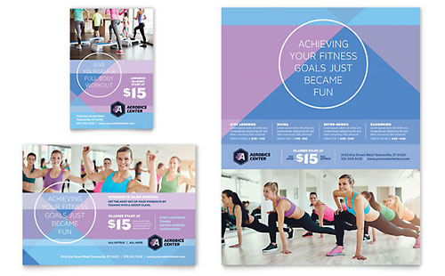 Aerobics Center Flyer & Ad