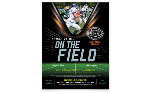 Football Training Flyer Template Design