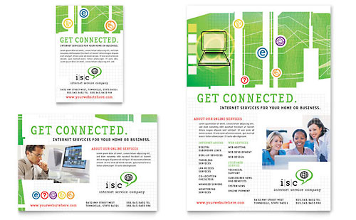 Isp Internet Service Flyer  Ad Template Design