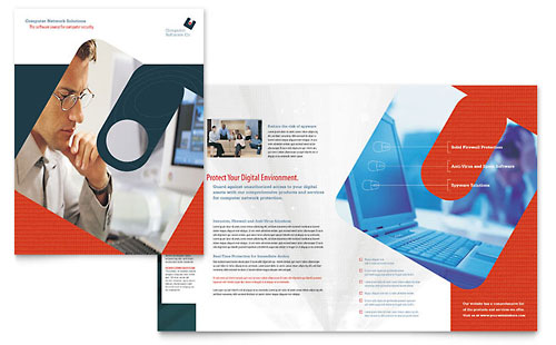 Computer Software Company Brochure Template