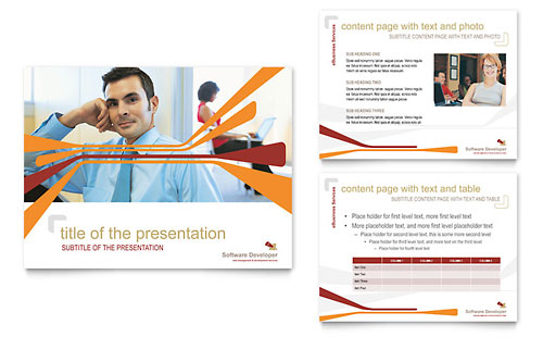 Software Developer PowerPoint Presentation Template Design