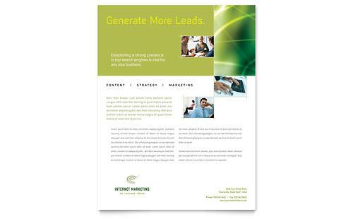Internet Marketing Flyer Template Design