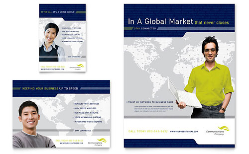 Global Communications Company Flyer & Ad