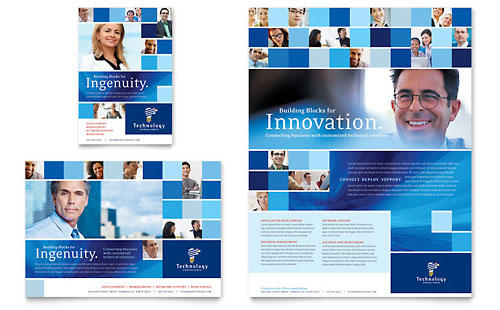 Technology Consulting & IT Flyer & Ad Template Design