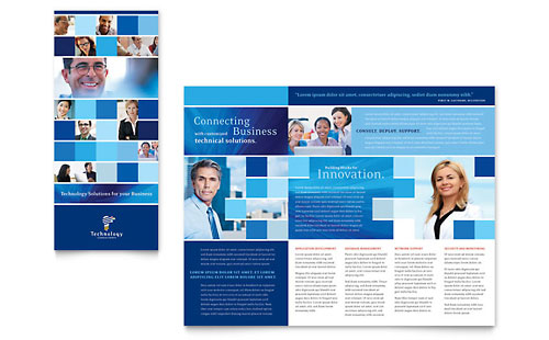 Technology Consulting & IT Tri Fold Brochure Template
