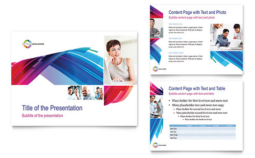 software solutions powerpoint presentation template design, Presentation templates