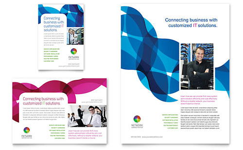 Network Administration Flyer & Ad Template Design