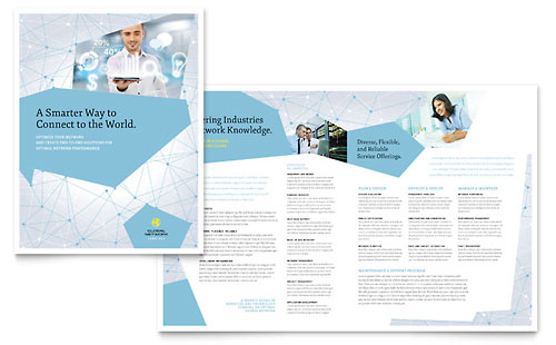 IT & Computer Consulting | 11x17 Brochure Templates | Technology
