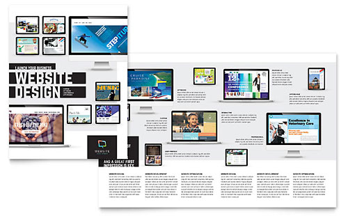 Website Designer Brochure Template Design