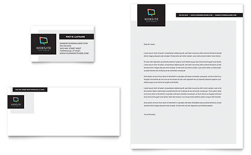 Website Designer Business Card & Letterhead