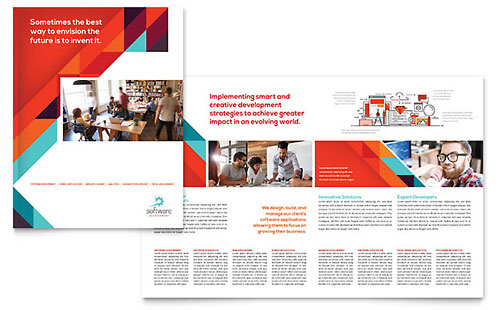 Software Solutions Brochure Template Design
