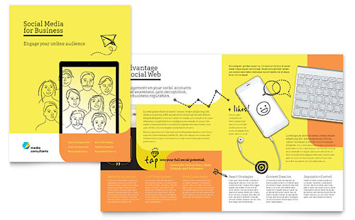 Brochure Templates  Indesign Illustrator Publisher Word