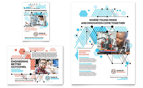 Computer Engineering Flyer & Ad Template Design