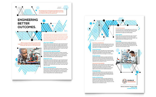 computer brochure templates - computer engineering brochure template design