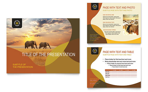 African Safari PowerPoint Presentation Template Design