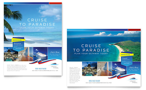 Cruise Travel Poster Template Design