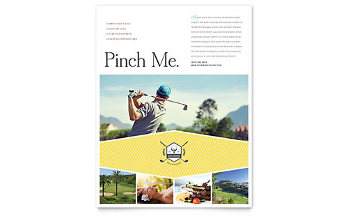 Golf Resort Flyer
