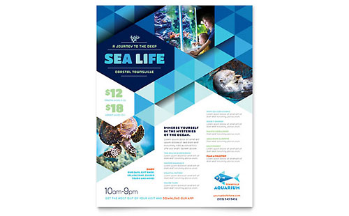 Ocean Aquarium Flyer Design Template
