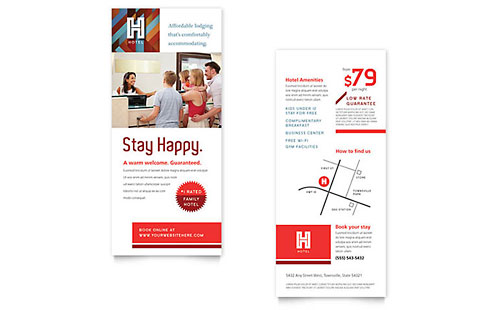 Free Rack Card Templates  Download Free Rack Card Designs