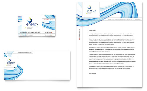 Renewable Energy Consulting Business Card & Letterhead Template Design