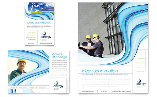 Renewable Energy Consulting Flyer & Ad Template Design