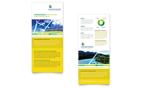 Environmental Conservation Rack Card