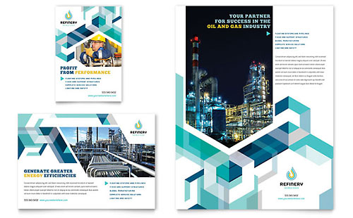 Oil & Gas Company Flyer & Ad Design Template