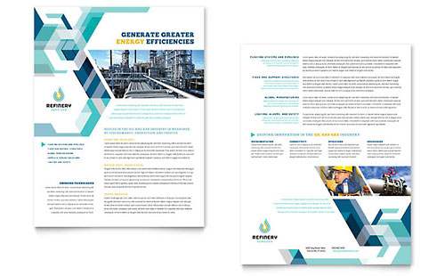 Oil & Gas Company Datasheet Template Design