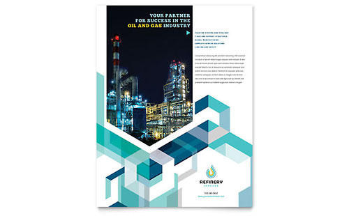 Oil & Gas Company Flyer Design Template