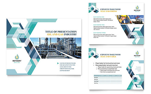 Oil & Gas Company PowerPoint Presentation Design Template