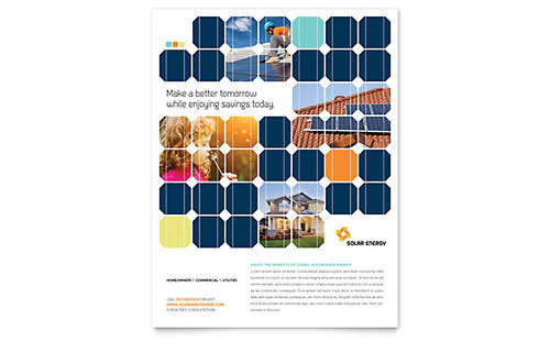 Solar Energy Flyer Template Design