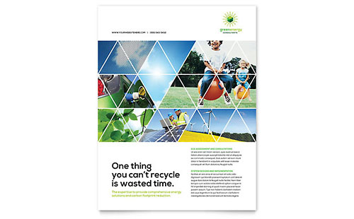 Green Energy Consultant Flyer