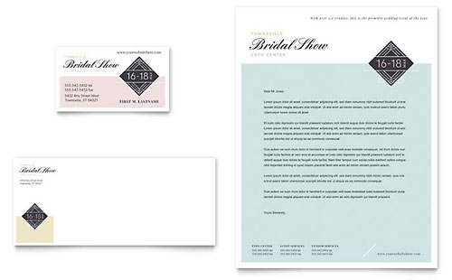 Bridal Show Business Card & Letterhead