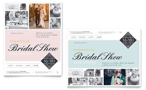 Bridal Show Poster Template Design