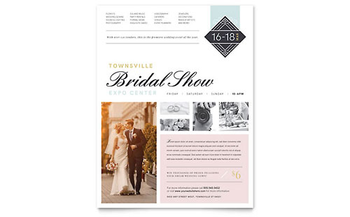 Bridal Show Flyer Template Design