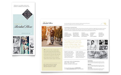 Bridal Show Tri Fold Brochure Template Design