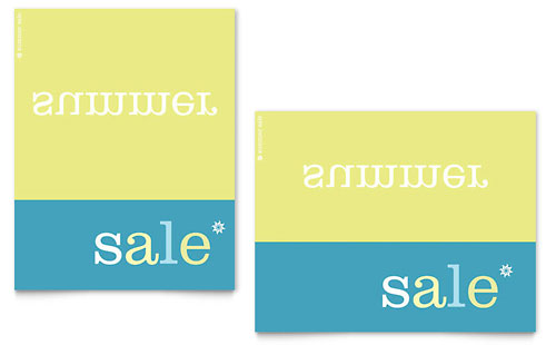 Inverse Upside Down Summer Sale Poster