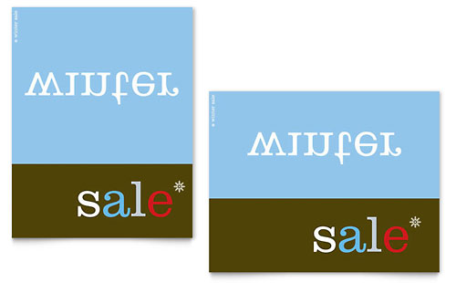 Inverse Upside Down Winter Sale Poster