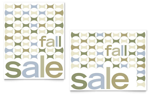 Geometric Fall Color Sale Poster Template