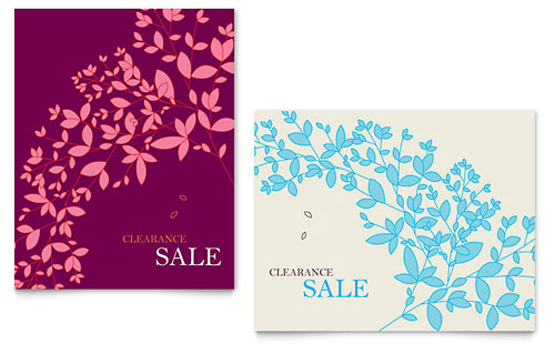 Spring Leaves Sale Poster