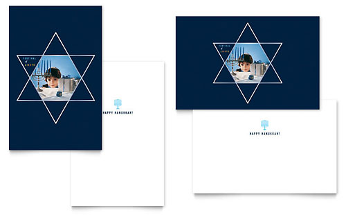 Star of David Greeting Card Template