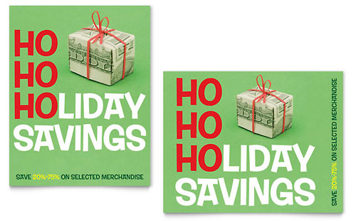 Holiday Savings Sale Poster