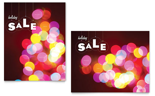 Holiday Lights Sale Poster