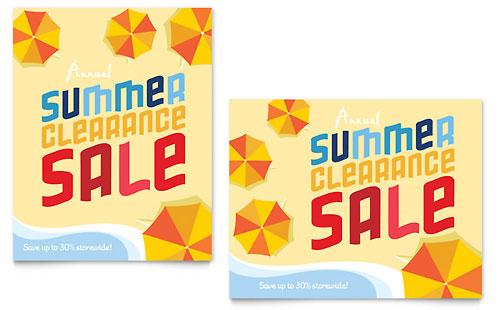 Summer Beach Sale Poster